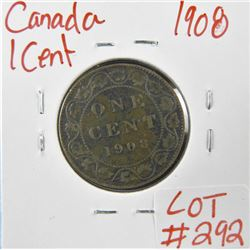 1908 Canadian Large 1 Cent