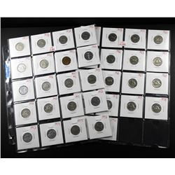 2 Sheets of Canadian Nickels 18 Coins total 1937-1992