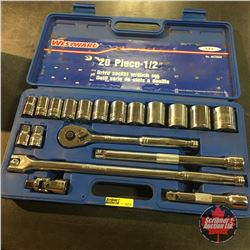 "Westward 1/2"" Drive Socket Wrench Set 20pc"