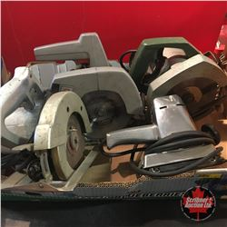 Tray Lot: Power Tools - Sander & 3 Circ Saws