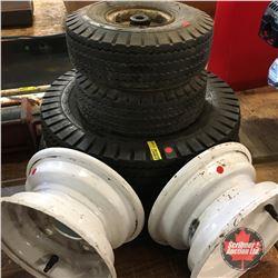 Assortment Small Tires & 2 Rims