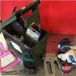 Ammo Box Lot: Variety of Tools (Hot Glue Gun, Staplers, etc)