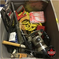 Tote Lot: Variety of Tools (Router, Swing Stapler, Dado Blades, Rubber Mallet, Bits, etc)