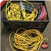 Image 1 : Tote Lot: Assorted Extension Cords