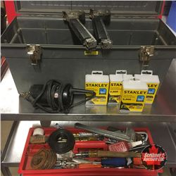 Tool Box with Contents (Variety of Hand Tools)