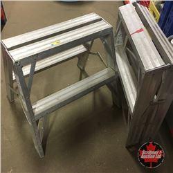 Pair of 2' Aluminum Step Ladders/Saw Horse