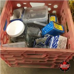 Milk Crate Lot: Fasteners / Screws