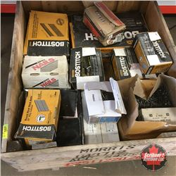Crate Lot: Large Variety Construction Nails (Framing, Brad, Roofing & Common)