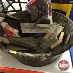 Cement Work Combo (Tub, Shovels, Trowels, etc)