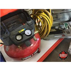Porter Cable Combo - Pancake Air Compressor, Brad Nailer & Hose