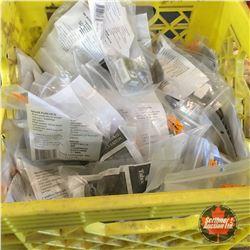 Milk Crate Lot: Full of Pad Locks