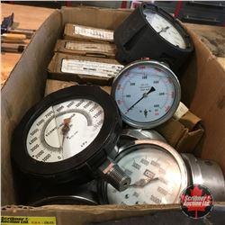 Box Lot: Variety of Pressure Gauges