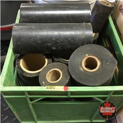 Combo Milk Crate Lot : Pipe Tape & Pail w/Pipe Shrink Tube