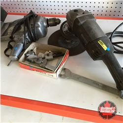"""Angle Grinder, 1/2"""" Drill, Drill Bit Sharpener Guide"""