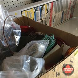 Box Lot: Wire, Alligator Clips, Ground Cables, Stainless Grill (2011-2014 Dodge Caravan)