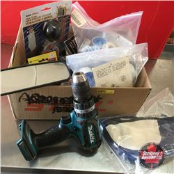 Box Lot: Teflon Tape, Welding Beanies, Antifreeze Testers, etc