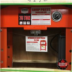 NEW SURPLUS: 75 Ton Hydraulic Shop Press