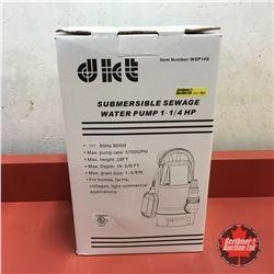 NEW SURPLUS: Submersible Sewage Water Pump 1-1/4HP