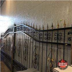 NEW SURPLUS: 20FT Heavy Duty Bi-Parting Wrought Iron Driveway Gate