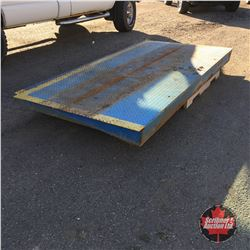 """Heavy Duty Steel Ramps - Checker Plate (2) (SeaCan or Curb!) 6""""High x 8' Wide x 4' Long"""