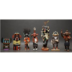 SEVEN HOPI INDIAN KACHINAS