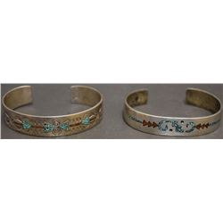 TWO NAVAJO INDIAN BRACELETS