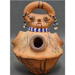 MOHAVE INDIAN POTTERY EFFIGY VASE (NORGE)