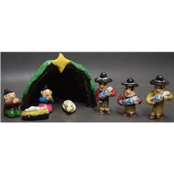 NAVAJO INDIAN POTTERY NATIVITY SET ( CHEE )