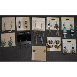TEN PAIR OF NAVAJO INDIAN EARRINGS