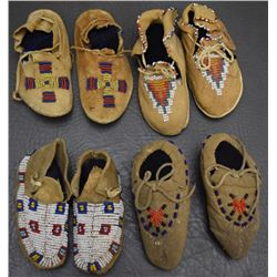 PLAINS INDIAN DOLL MOCCASINS