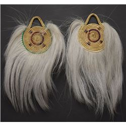 PAIR YUP'IK ESKIMO INDIAN  DANCE FANS