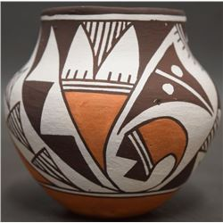 ACOMA INDIAN POTTERY JAR ((LENO)