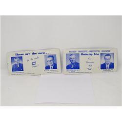 JOHN DIEFENBAKER MEMBERSHIP DRIVE CARDS