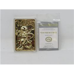 POKEMON - MEWTWO LE 23K GOLD PLATED TRADING CARDS, MINT