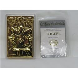 POKEMON - TOGEPI LE 23K GOLD PLATED TRADING CARDS, MINT