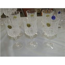 6 GENUINE LEAD CRYSTAL GLASSES FRANCE