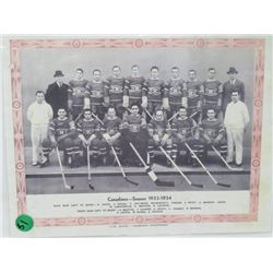 MONTREAL CANADIENS PICTURE 1933 -34