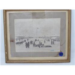 INTERIOR OF FT. GARRY PRINT 1876