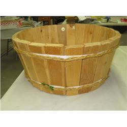 WOODEN BARRELL, HEMP BOUND, 18X9""