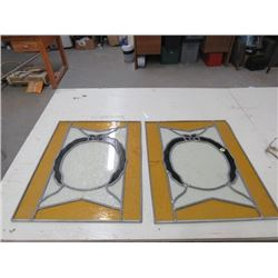 2 STAINED GLASS 15.5X19.5 BOTH ARE CRACKED