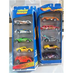HOT WHEELS, 2 PKGS OF 5, CARS