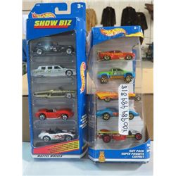 HOT WHEELS, 2PKGS OF 5, CARS