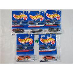 HOT WHEELS, PKG OF 5, 5 CARS