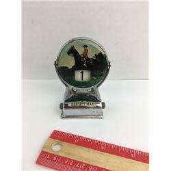 Mountie Perpetual tin flip desk calendar