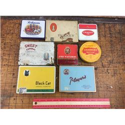 lot of 8 tobacco tins