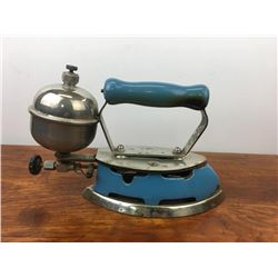 COLEMAN model 4-a blue enamel gas iron