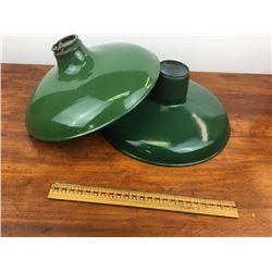 Lot 2 green porcelain light shades