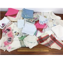 Large lot vintage handkerchiefs