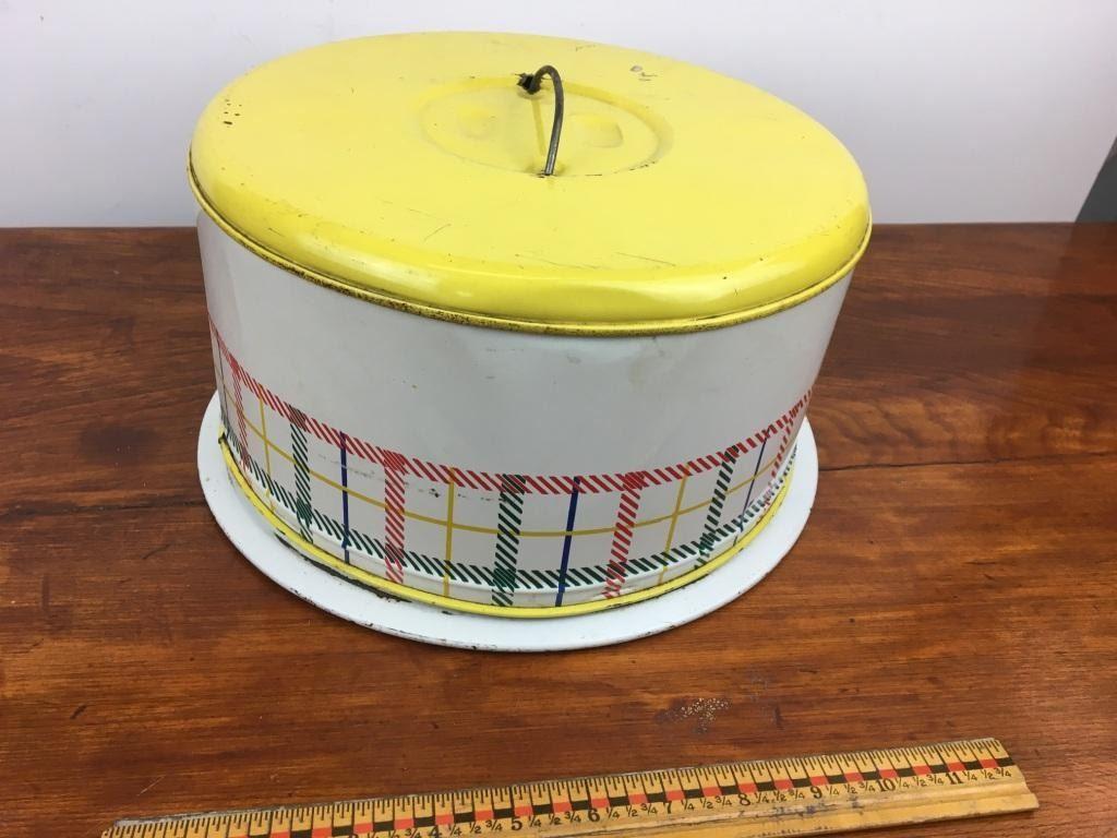 ... Image 3 : Vintage tin cake carrier ...