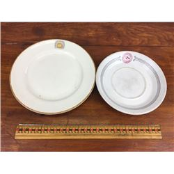 Lot Canadian pacific and Canadian national hotel railway dinnerware plates